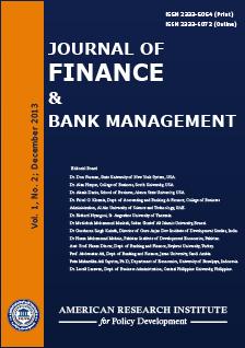 Journal of Finance and Bank Management (JFBM)